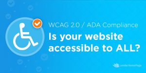 mortgage website and ADA accessibility requirements