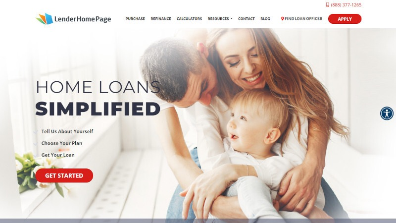 mortgage website template 57