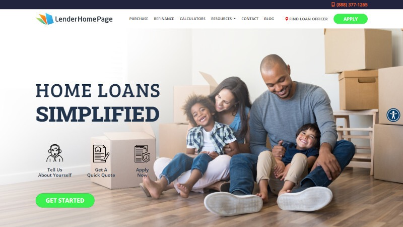 mortgage website template 56