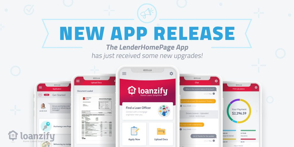 new release of version 4 of Loanzify mortgage app