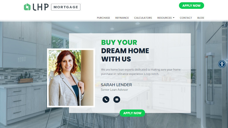 individual mortgage website template one