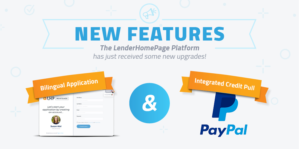 new feature spanish 1003 and self pay credit pull lenderhomepage